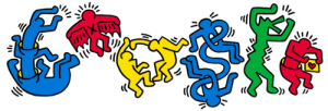 haring doodle for gold plate picasso wordpress