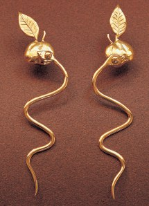 Earrings by Dorothea Tanning